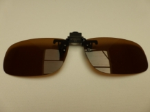 "A&M "" Clip On "" Brown Zonnebril"